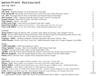 Waterfront Restaurant Menu