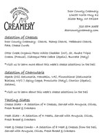 Door County Creamery Menu
