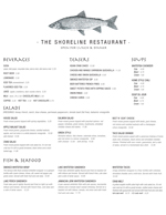 Shoreline Lunch Menu