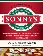Sonny's Pizzeria Menu