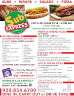 Sub Express Menu