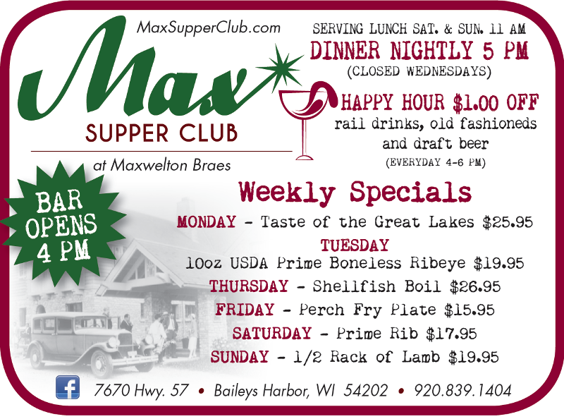 Supper At The Max Door County Chefs