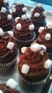 Peppermint Hot Chocolate Cupcakes - Cupcake Heaven, Sister Bay