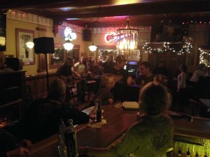 Bayside Tavern (Open Mic host Seth Raddatz with Tommy Burroughs)