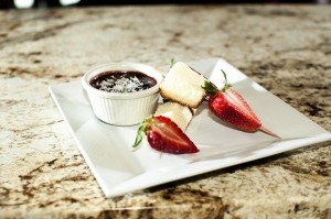 Strawberry Pound Cake Skewers (Door Peninsula Winery)