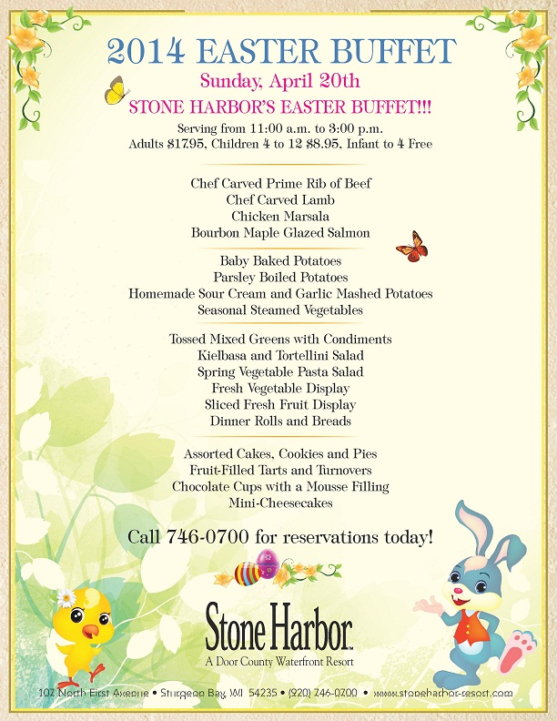 Stone Harbor EasterMenu_2014