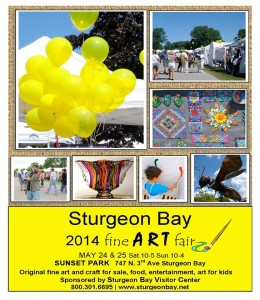 Sturgeon Bay Fine Art Fair 2014 poster
