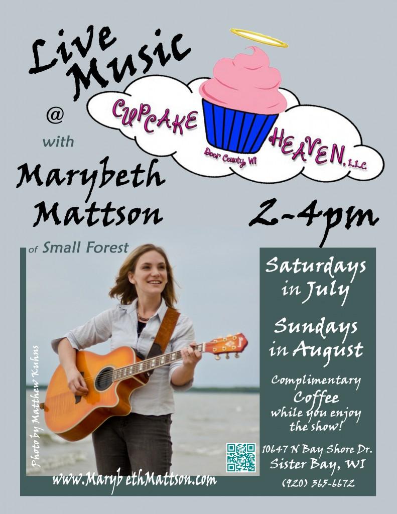 Mb at Cupcake poster 2014 July 2-4pm