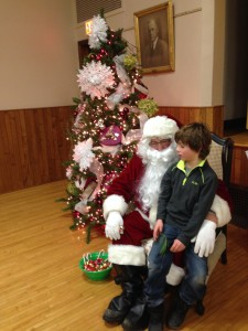 Santa with kid BH 2013