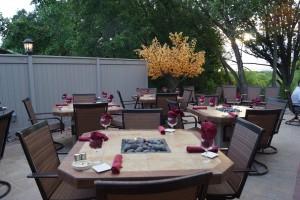 Green Bay English Inn patio dining