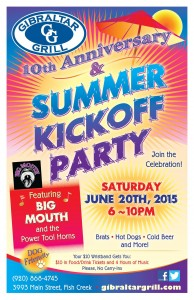 Gibraltar Grill Summer Kickoff party 2015