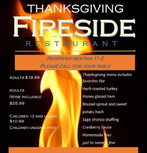 Fireside Thankgiving 2015