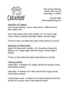 creamery menu